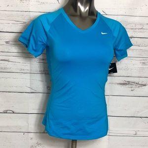 Blue Nike Dri Fit T-Shirt
